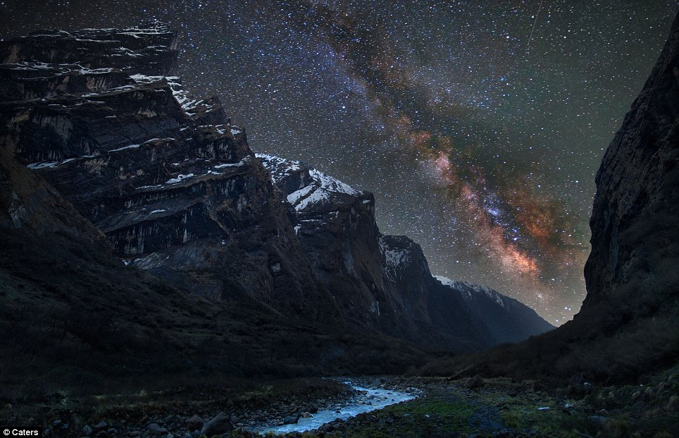 The night sky over Nepal